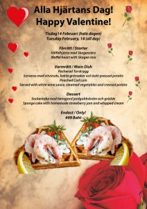 Happy Valentine with Swedish cuisine at Cajutan in Bangkok