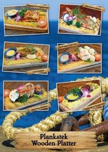 Svensk plankstek på Cajutan i Bangkok. En riktig restaurang klassiker. Vegetarisk, Halloumi, fisk, oxfilé, kyckling och hummer