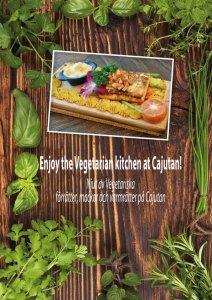 Vegetariska rätter på Cajutan i Bangkok