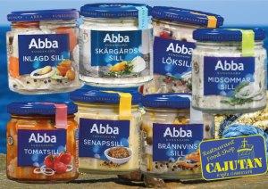 Swedish Abba Herring at Cajutan food shop in Bangkok