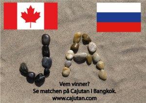Ishockey, Canada vs Ryssland ikväll på Cajutan i Bangkok