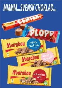 Svenskt godis och svensk choklad, Cloetta och Marabou köper du på Cajutan i Bangkok