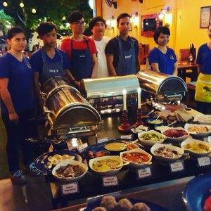 Swedish buffet, smörgåsbord at Cajutan in Bangkok