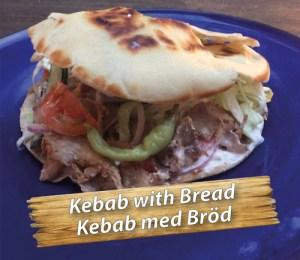Svensk kebab med bröd på Cajutan i Bangkok