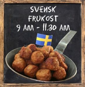 Svensk frukost serveras på Cajutan i Bangkok, alla dagar i veckan.
