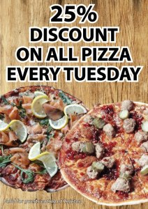 25% discount on all pizza at Cajutan in Bangkok