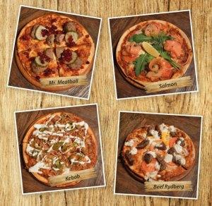 Svensk pizza på Cajutan i Bangkok