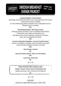 Svensk frukost på Cajutan i Bangkok