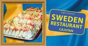Svensk smörgåstårta på Cajutan i Bangkok