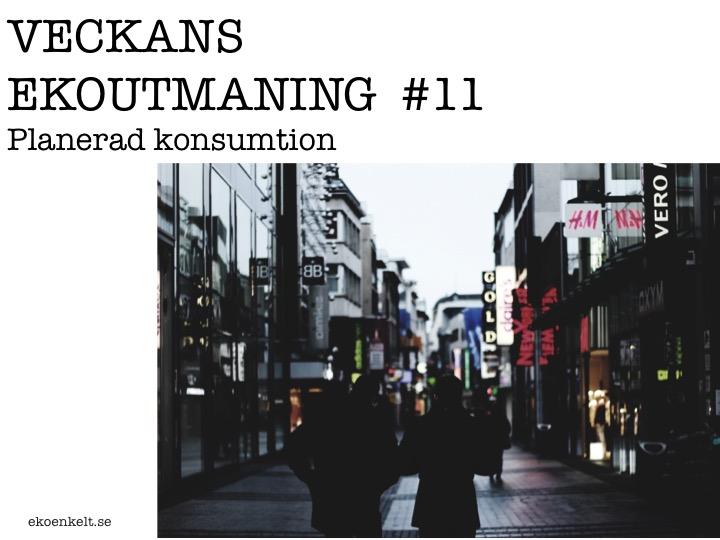 Veckans Ekoutmaning #11: Planerad konsumtion
