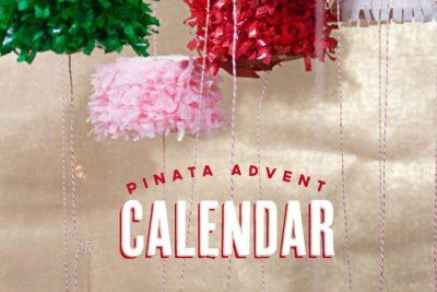 DIY Piñata Advent Calendar Christmas Craft