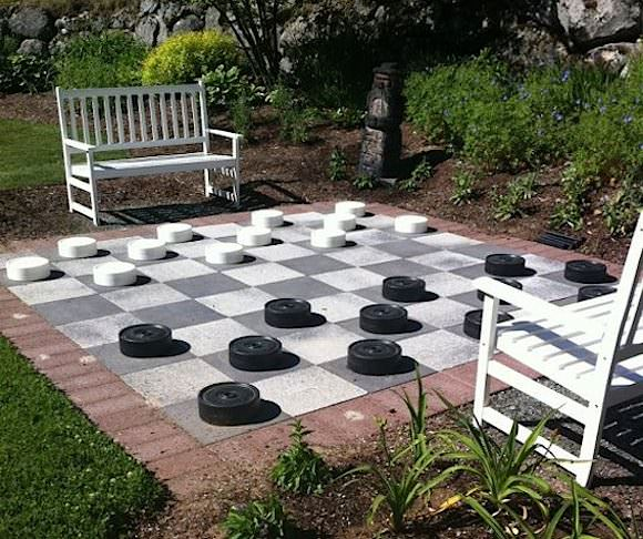 DIY Backyard Games: Giant Checkerboard