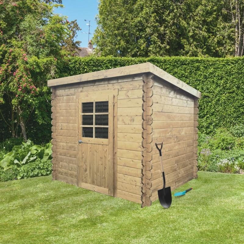 abri de jardin passau 3 92m en bois massif 19mm a toit monopente solid