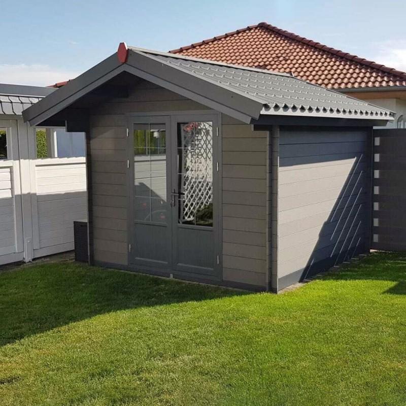 abri de jardin composite gris fonce 9m