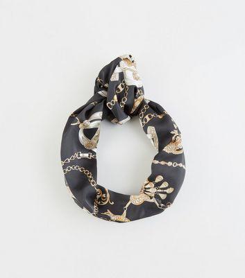 Black Chain Knot Headband