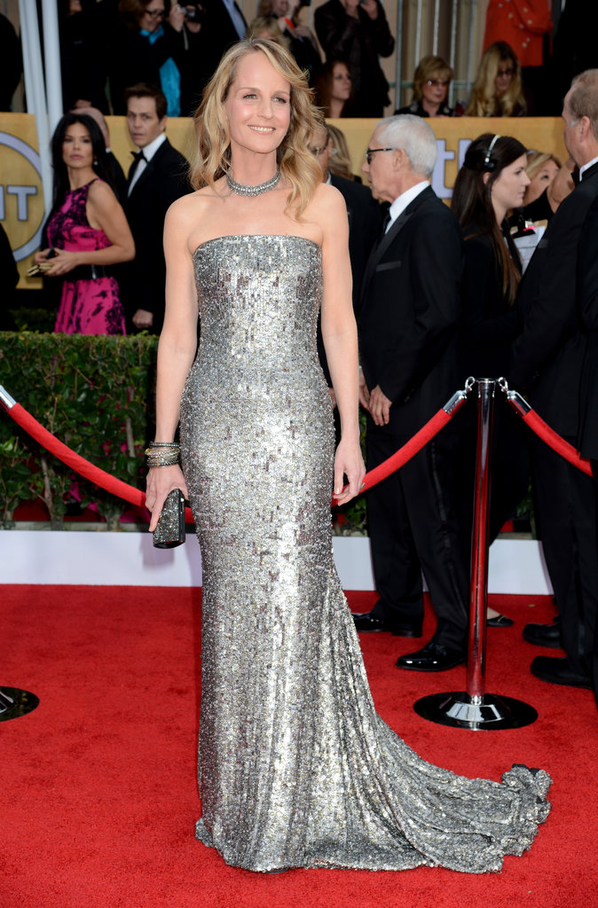 Helen Hunt wearing Romona Keveza at the 2013 Screen Actors Guild SAG Awards