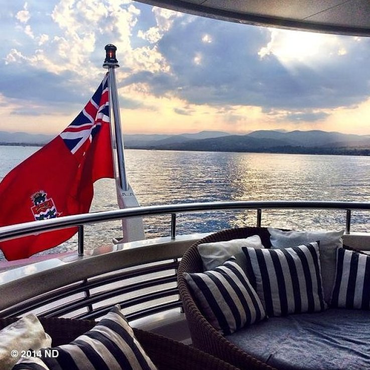 Nina Dobrev hopped on a yacht with friends.<br /> Source: Instagram user ninadobrev<br />