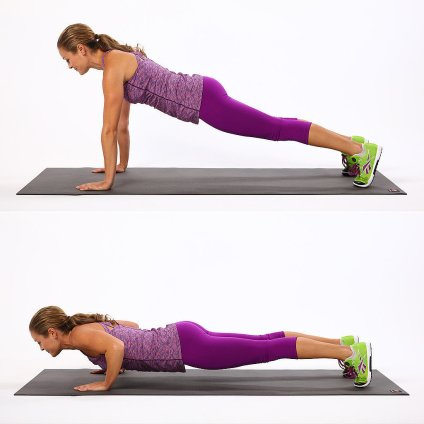 push up to reduce love handles