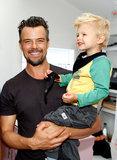 Josh Duhamel infiamma il più grande sorriso durante luscita sveglia con il figlio Axl