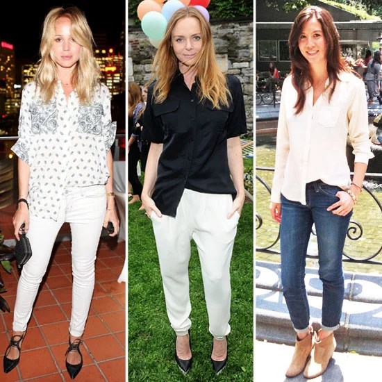 Half Tuck Shirt Trend POPSUGAR Fashion