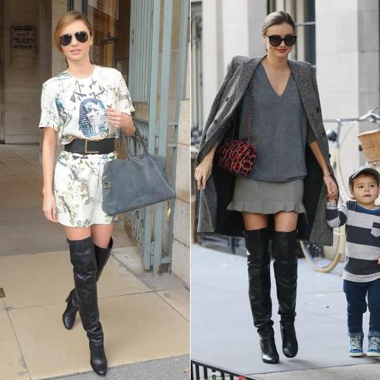 Miranda Kerr In Over The Knee Boots POPSUGAR Fashion