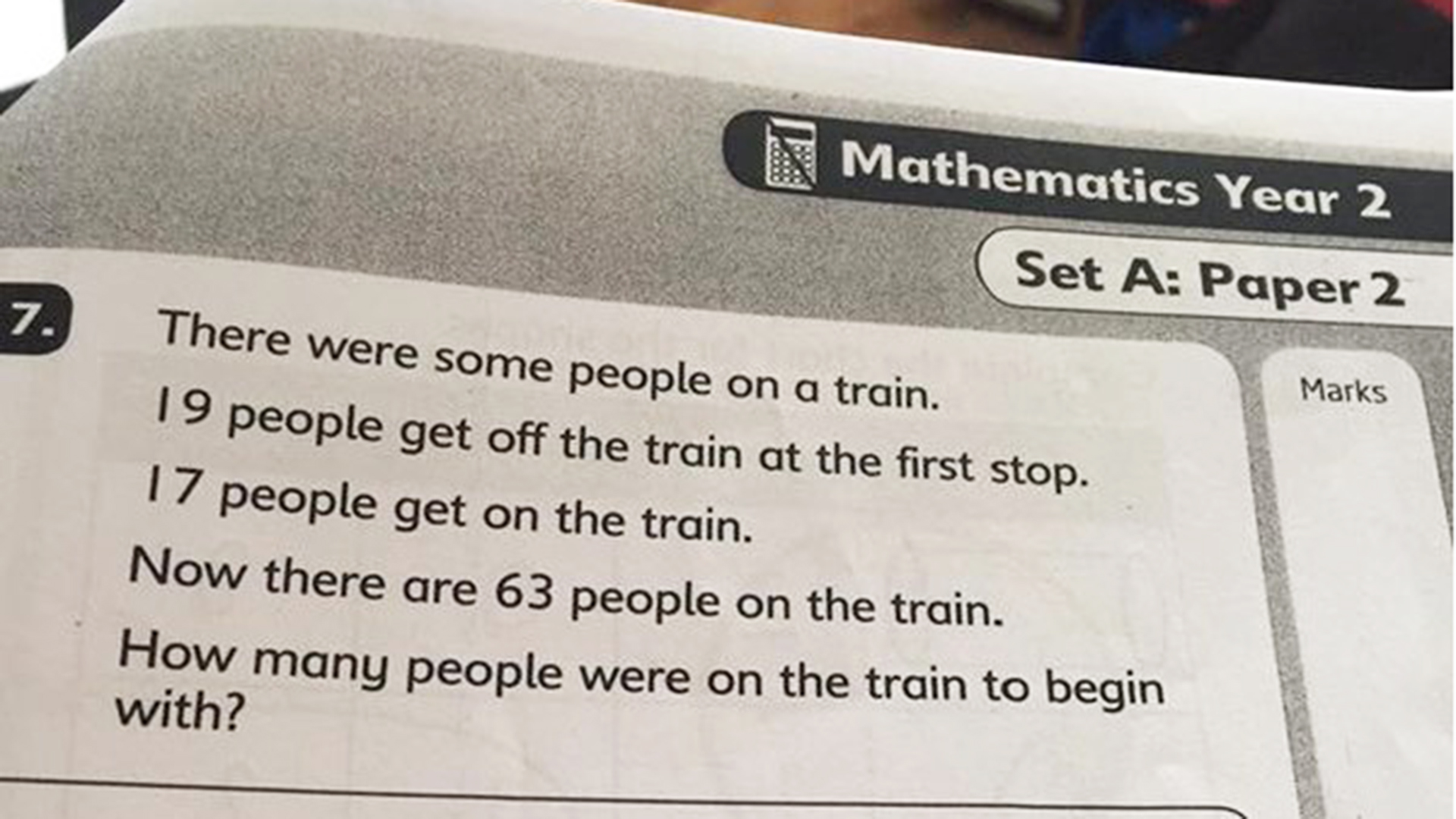 Math Problem Meant For 7 Year Olds Puzzles Outraged