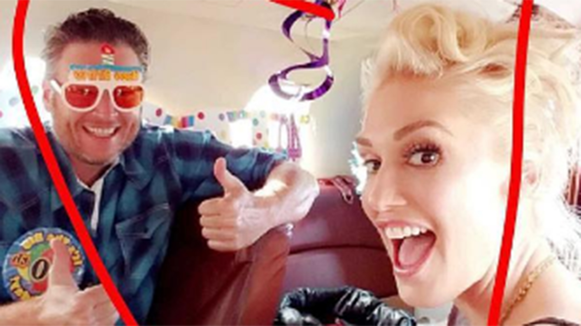 Gwen Stefani Helps Blake Shelton Celebrate His 40th In Goofy Hilarious Style