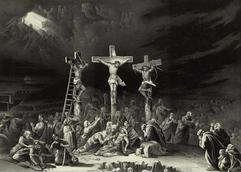 Image: Lithograph of crucifixion