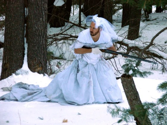 Image result for hunting in a wedding dress