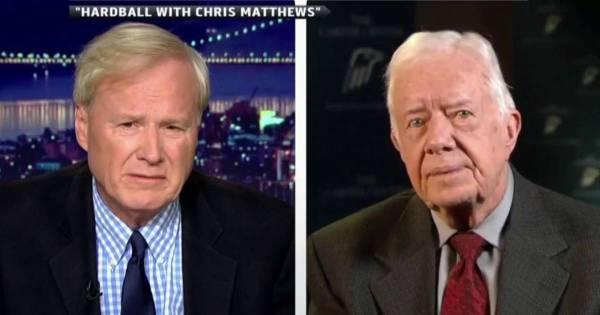 Fmr. President Carter talks Mideast peace with Chris Matthews