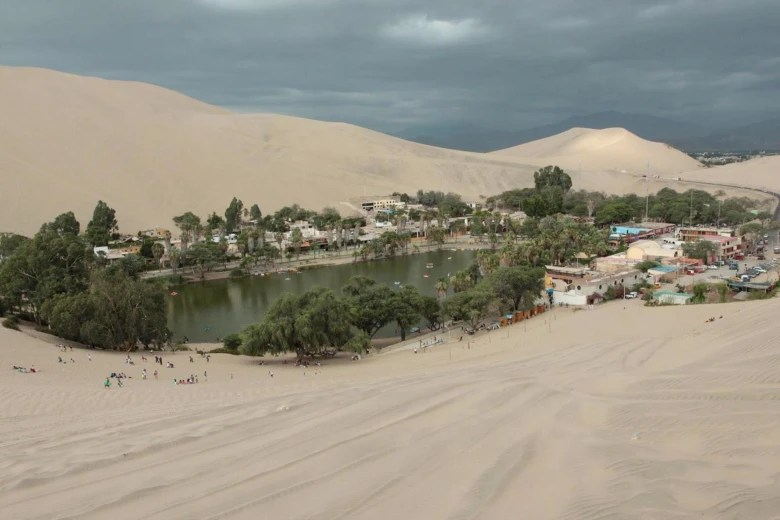 Image: Village of Huacachina, five hours south of Lima.