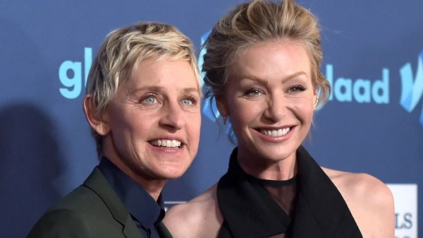 Ellen DeGeneres' dogs interrupt her morning workout ...