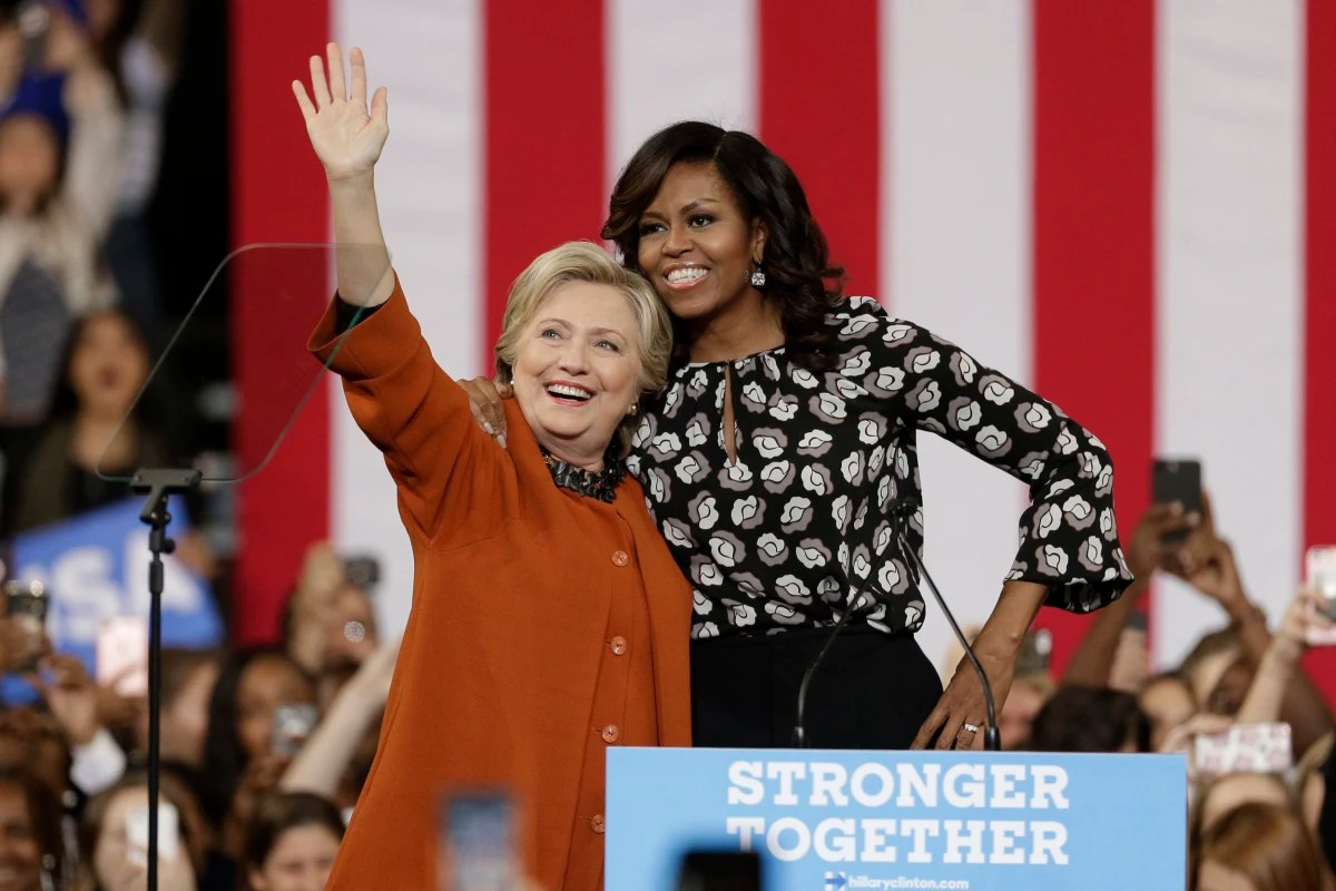 Image result for images of hillary clinton with michelle obama