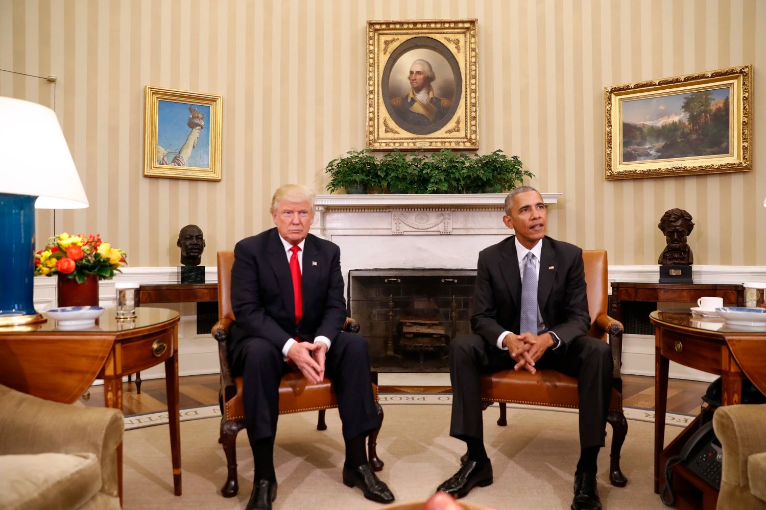 Image result for photo of trump and obama at white house