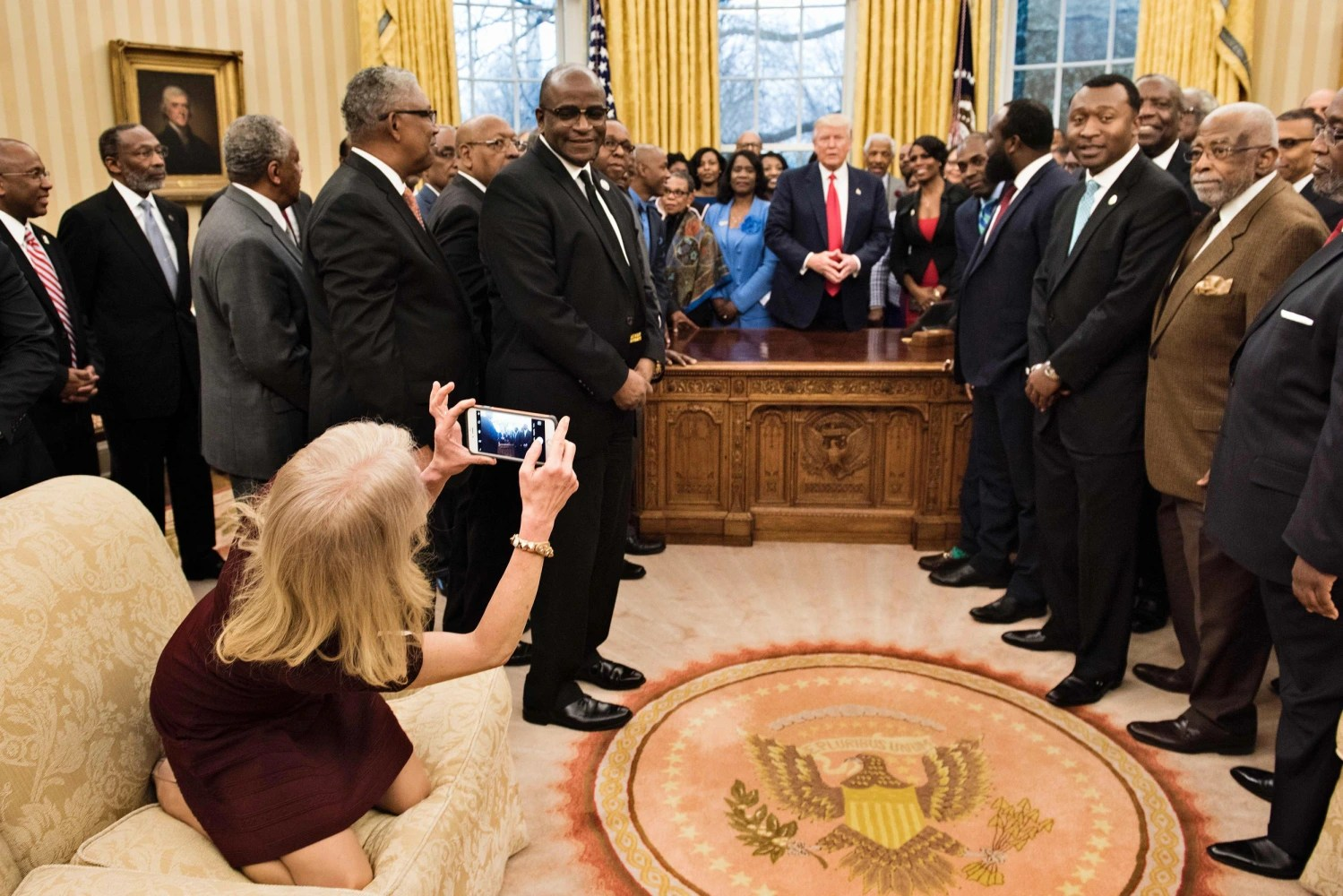Image result for legs oval office kelly ann conway