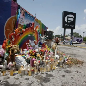 Image: Man visiting pulse nightclub memorial