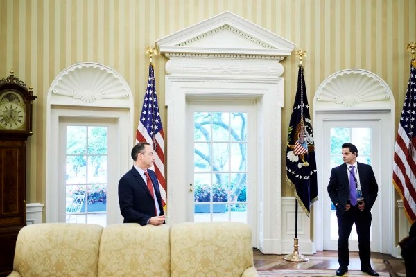 Image: Reince Priebus and Anthony Scaramucci in the Oval Office