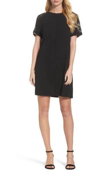 Lace shift little black dress Nordstrom