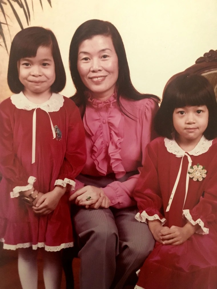 Image: Oanh Meyer; her mom, Anh Le; and twin sister, Mai Le-Diloy, circa 1980