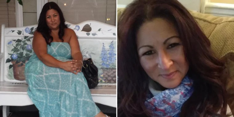 Elena Rodriguez, before and after weight loss