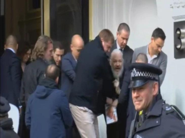 Image result for London police arrest Wikileaks Founder Julian Assange