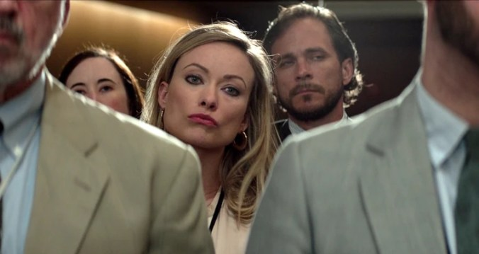 """Olivia Wilde as The Atlanta Journal-Constitution reporter Kathy Scruggs in the movie """"Richard Jewell."""""""