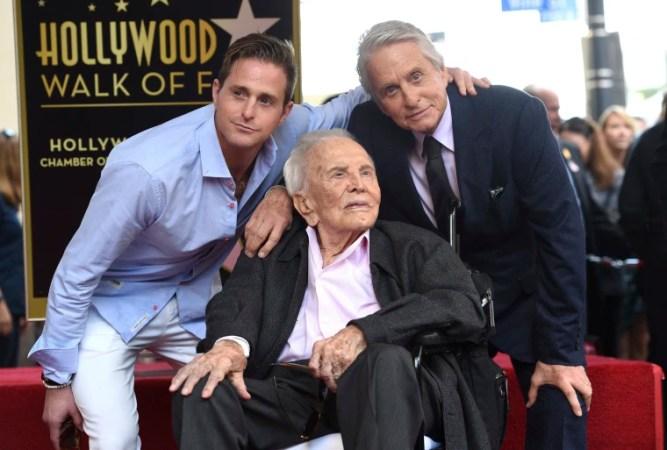 Image: Michael Douglas, Kirk Douglas, Cameron Douglas