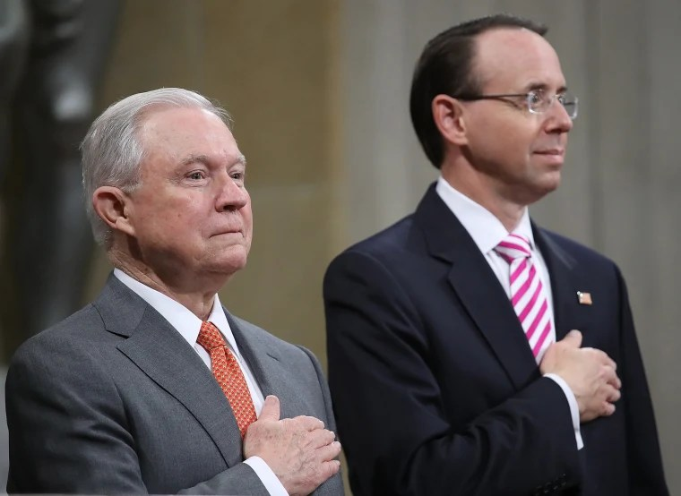 Image: Attorney Gen. Sessions And Deputy Attn. Gen. Rosenstein Speak On Religious Freedom At Justice Dept. Religious Liberty Summit