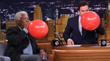 Image: Morgan Freeman, Jimmy Fallon