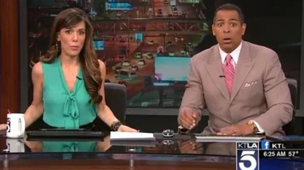 Los Angeles news anchor goes full earthquake face during ...