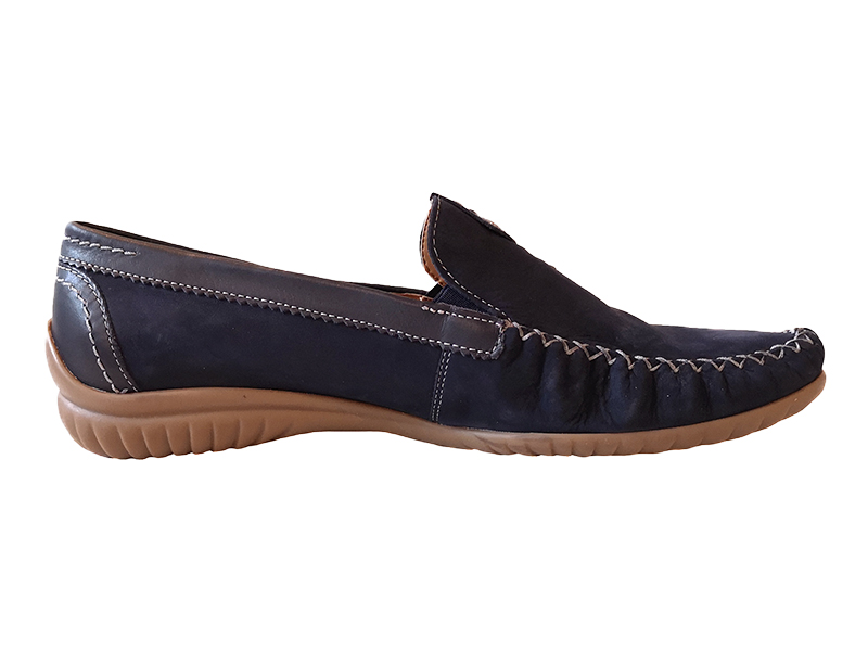 Gabor - marinblåa loafers