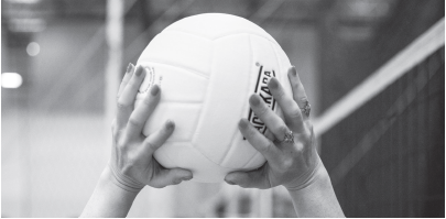 Good hand contact with the ball gives you more control when connecting with the middle as a volleyball setter.