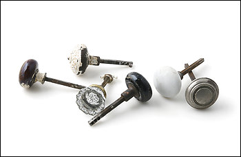 Second Chance Inc., has a variety of old door knobs.