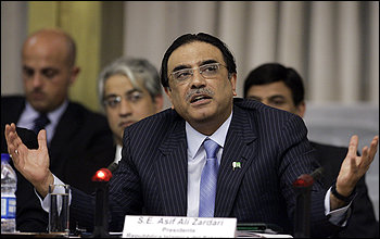 President Asif Ali Zardari is caught between pressure to work with Washington and the need to improve relations with Pakistan's army.
